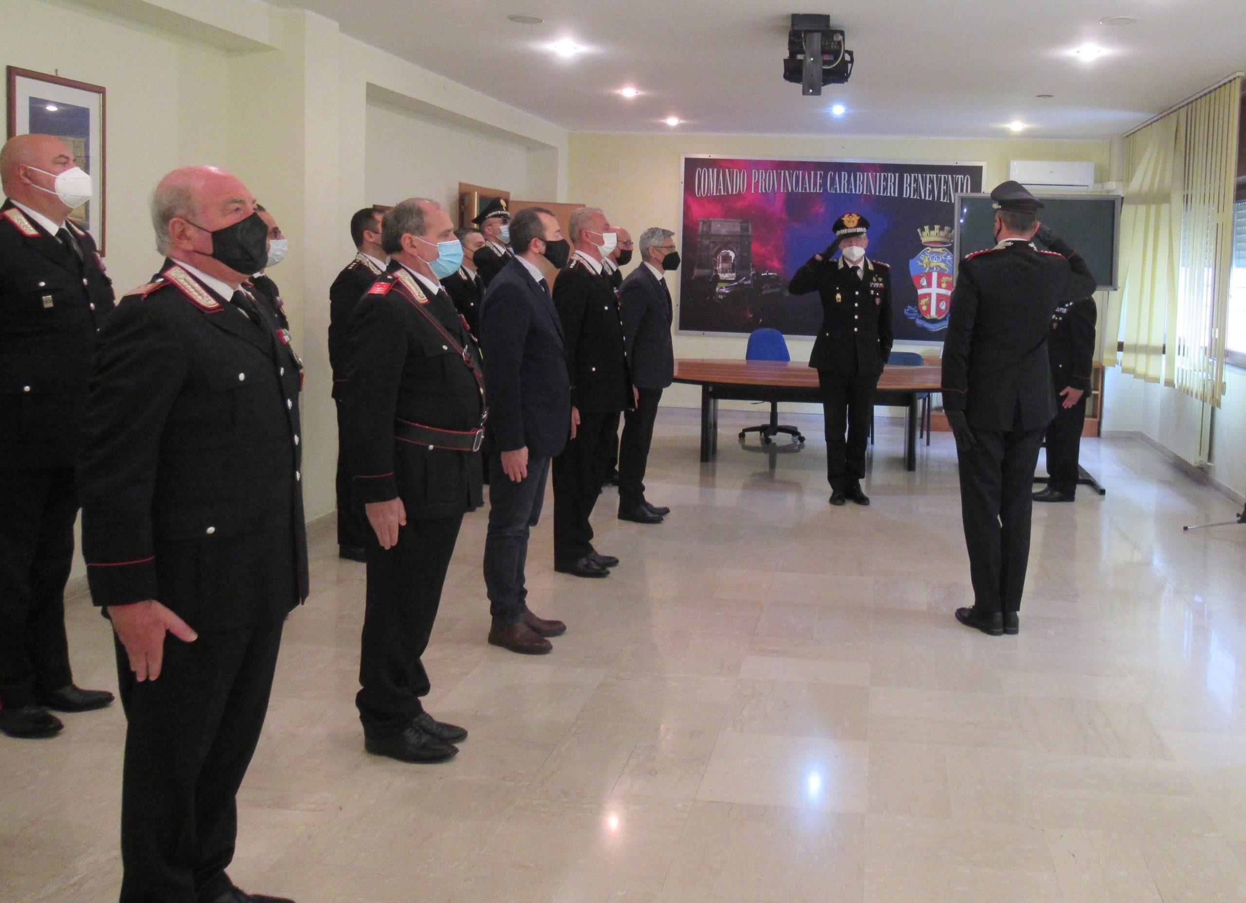 """A Benevento la visita al comando provinciale dei CC del Generale di Corpo D'Armata Maurizio Detalmo Mezzavilla, Comandante interregionale Carabinieri """"Ogaden"""""""