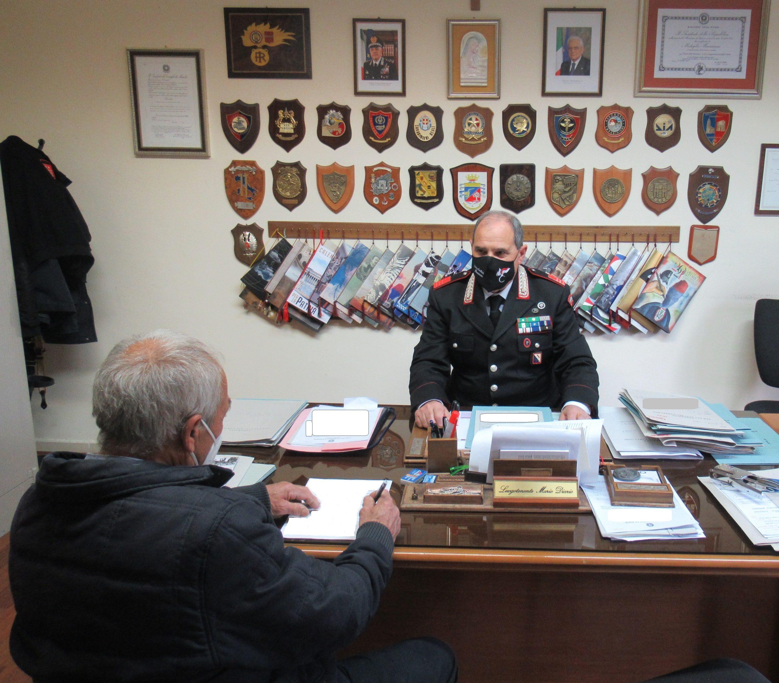 Carabinieri in campo per campagna vaccinale ultra 70enni