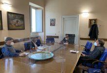 Benevento|Fernando Errico ha incontrato i segretari delle tre sigle sindacali Luciano Valle (Cgil), Fernando Vecchione (Cisl) e Giovanni De Luca (Uil)