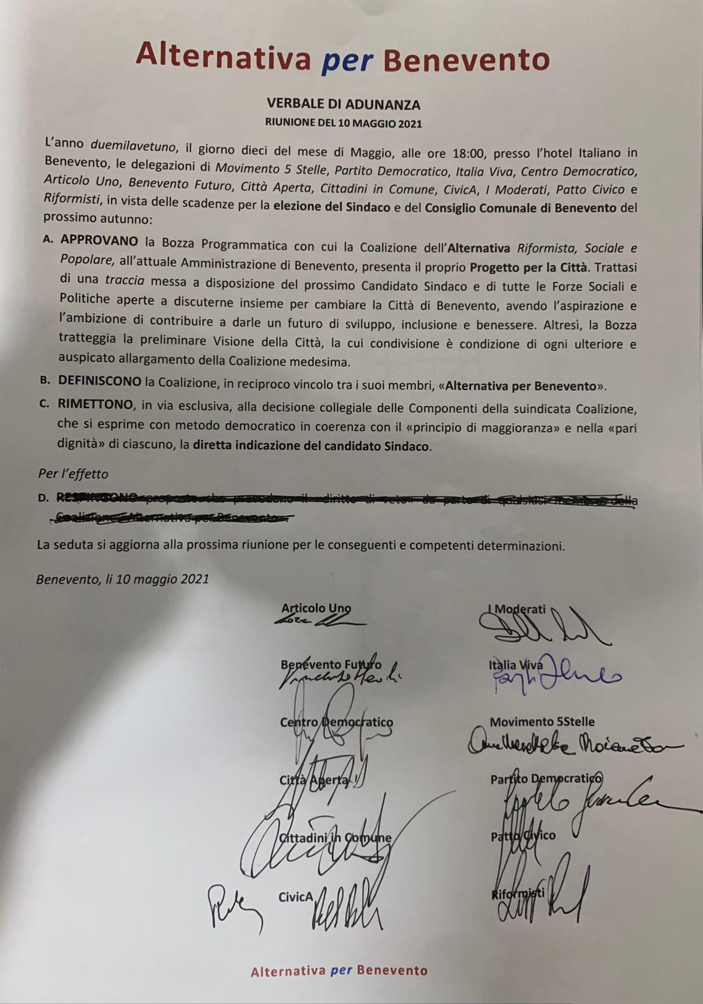 Benevento Nasce Alleanza Per Benevento Ma Non C E Civico 22 Via Libera Per Perifano Lab Tv