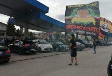Benevento, i tifosi si fanno sentire
