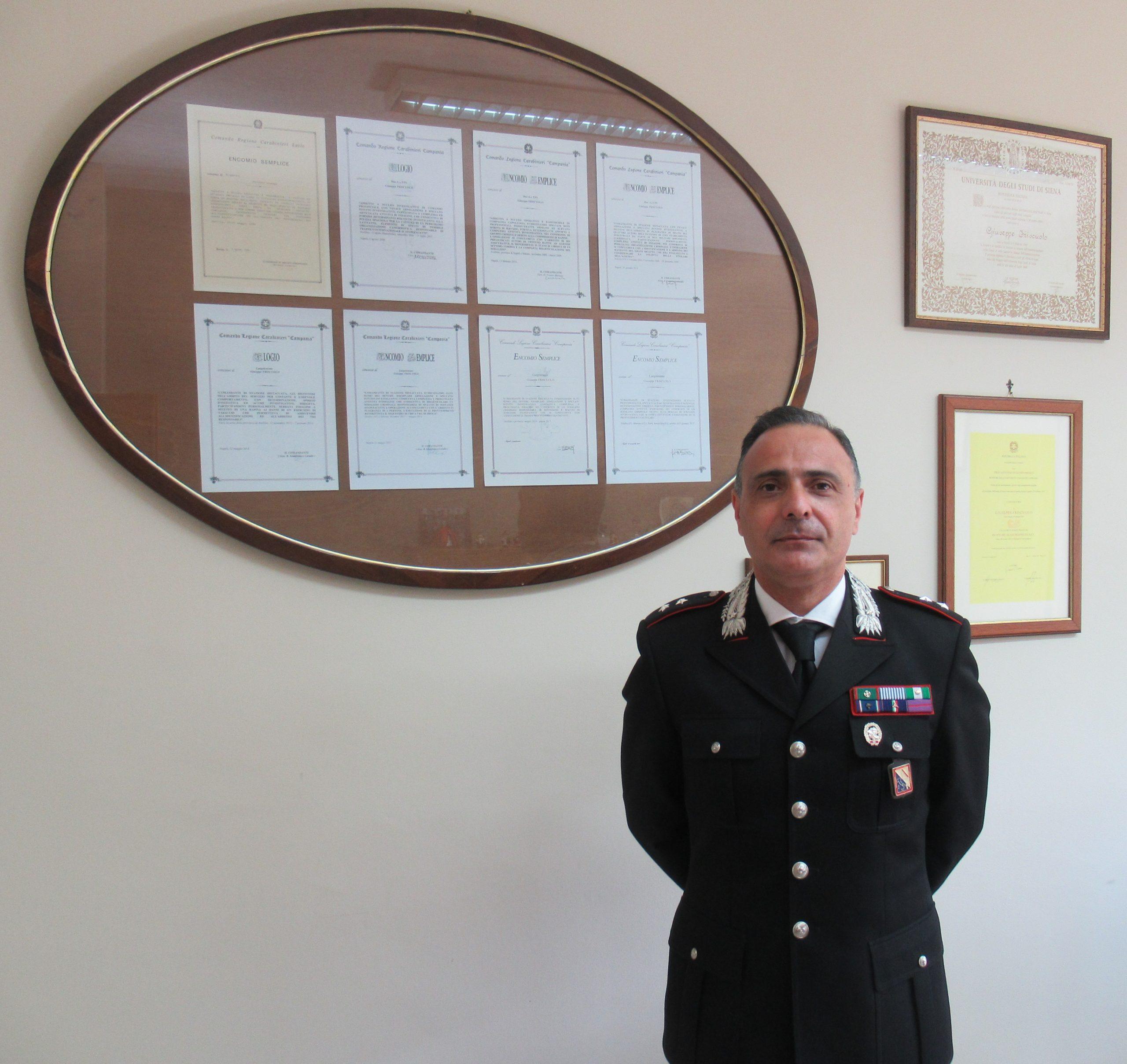 Carabinieri: nuovo comandante del reparto operativo al comando provinciale di benevento.Promossi anche due ufficiali del comando provinciale