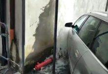 Amorosi, scontro tra due auto, scoppia conduttura idrica