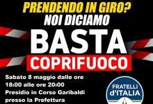 FdI Sannio, protesta contro il coprifuoco a Benevento sabato alle 18