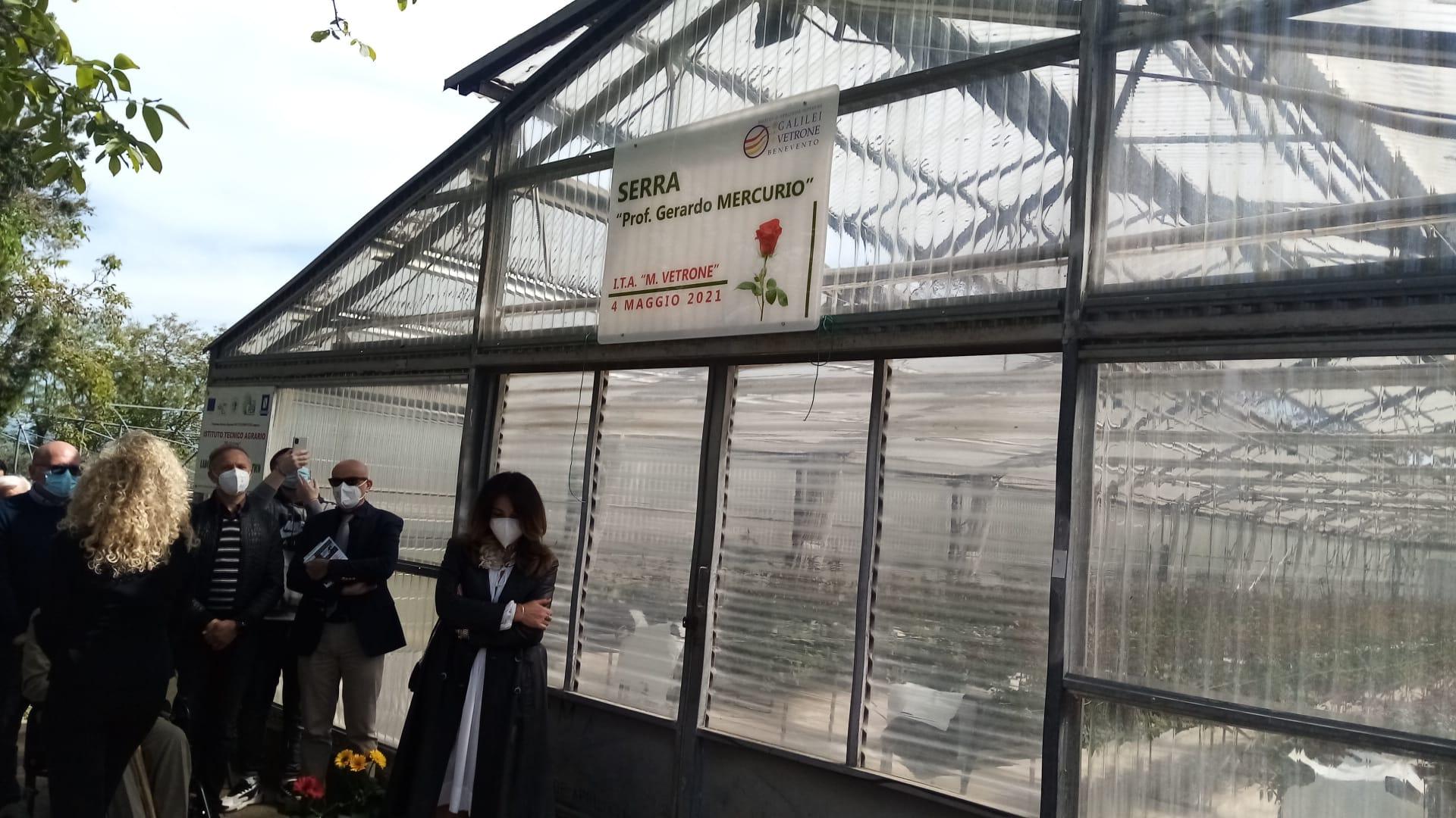 Benevento Istituto Agrario 'Vetrone', una serra per il prof. Mercurio