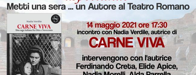 """""""Metti una sera un autore al Teatro Romano"""", incontro con Nadia Verdile"""