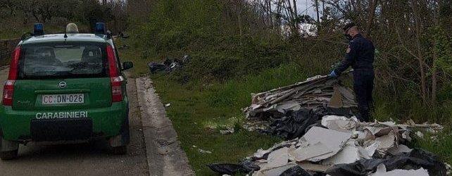 CC Forestali, scoperti rifiuti pericolosi a San Giorgio del Sannio