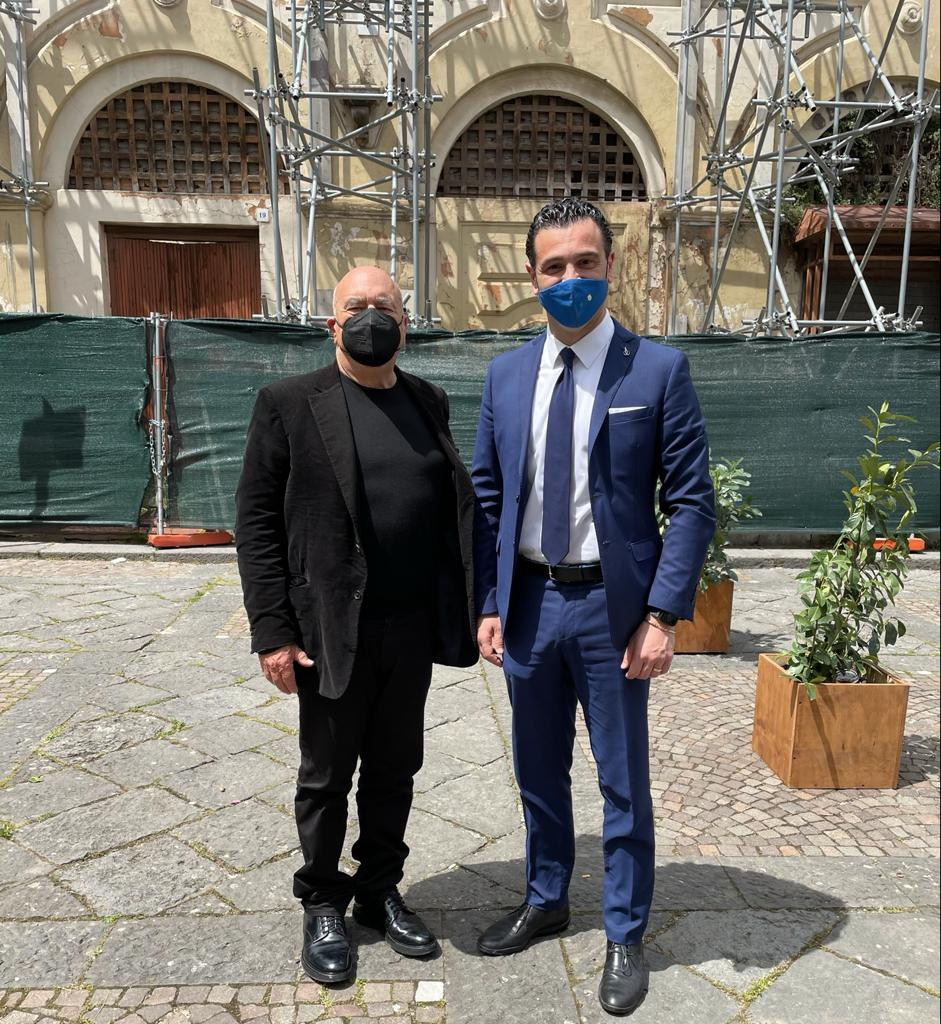 Avellino  Dogana, primo sopralluogo dell'archistar Fuksas insieme al sindaco Festa