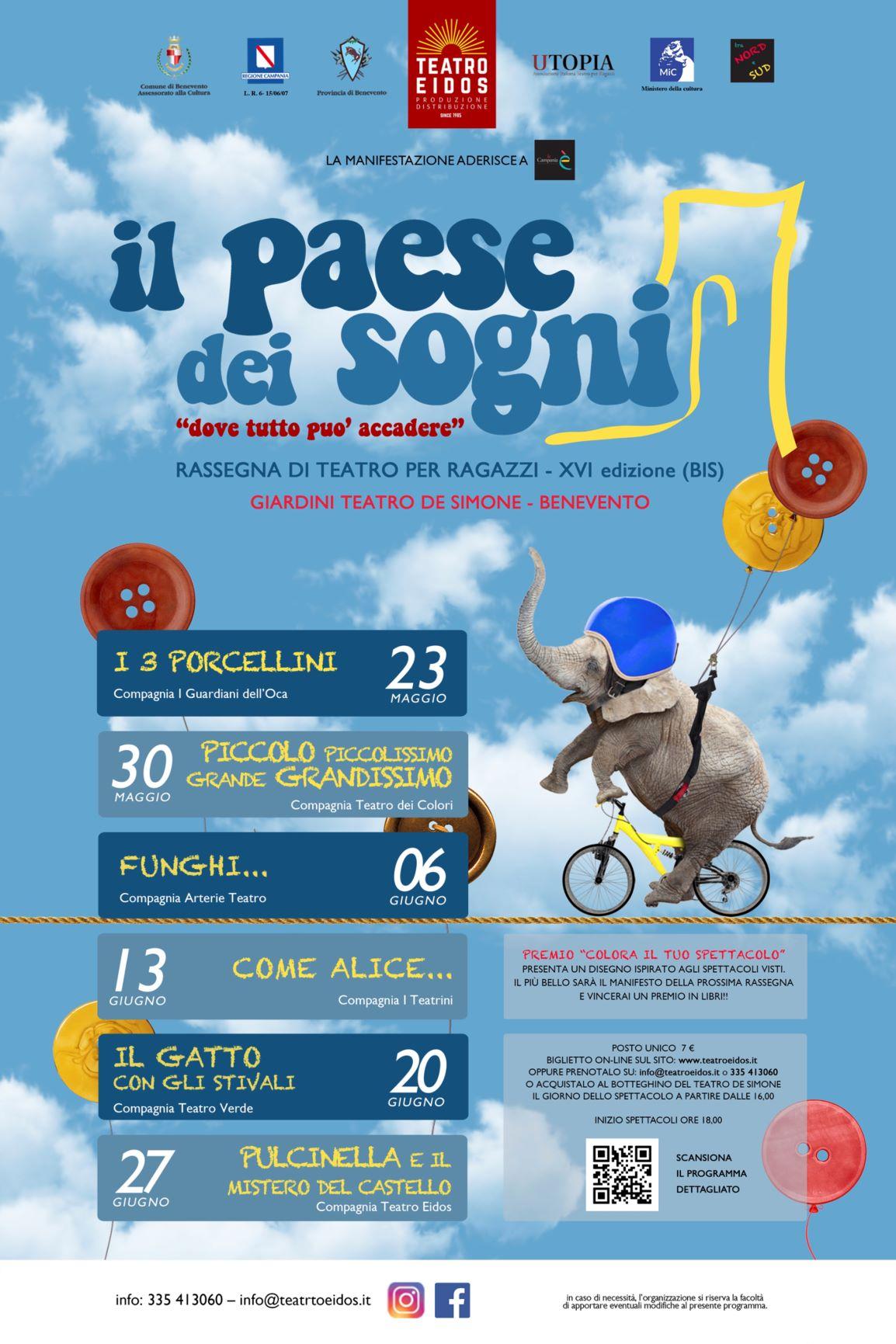 """""""Il paese dei sogni"""", da domenica torna la rassegna per famiglie organizzata dalla compagnia Teatro Eidos"""