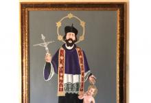 Ponte|Il maestro Pica ha donato un quadro di San Giovanni Nepomuceno