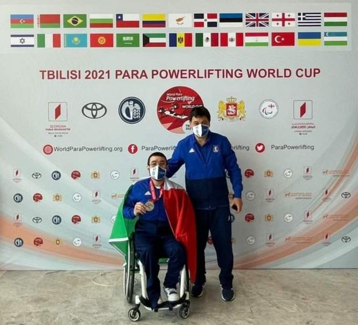 Montecalvo| Giochi paralimpici, Peppe Colantuoni argento alla World Cup di Tbilisi nel sollevamento pesi