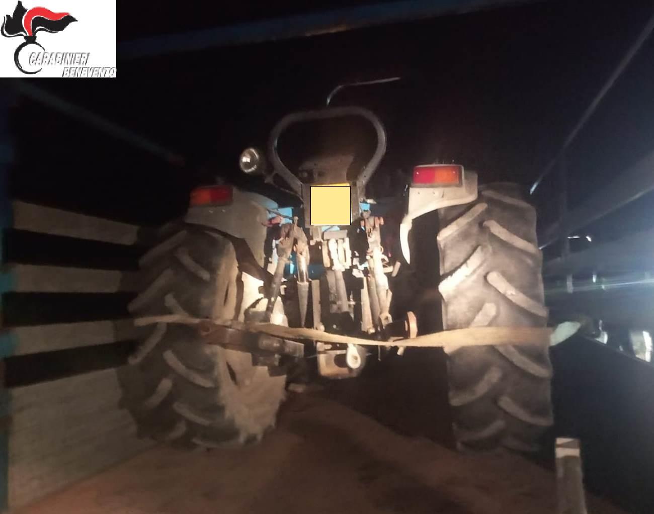 Ritrovati i trattori e l'autocarro rubati al Parco naturalistico del Volturno di Amorosi