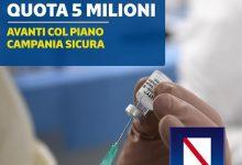 Vaccini, in Campania 5 milioni di somministrazioni