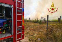 Incendio sul raccordo autostradale Avellino-Salerno, pronto intervento dei Vigili del Fuoco