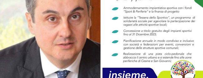 """Le proposte in comune di """"Insieme San Giorgio"""". La """"Tessera dello sportivo"""" nei primi 100 giorni di amministrazione"""