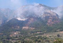 Faicchio: ancora in fiamme il Monte Erbano