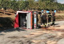 Torrecuso, incidente stradale: si ribalta camionetta dei Vigili del Fuoco