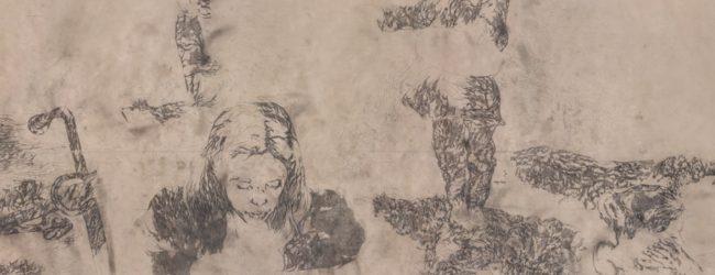 """""""Rubedo"""" la Divina Commedia interpretata da Enrico Mazzone su un tappeto di carta lungo 97 metri"""