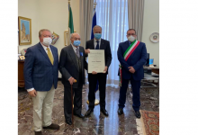 Alla Prefettura di Benevento la consegna dell'Onoreficenza di Cavaliere a Raffaele Viggiano